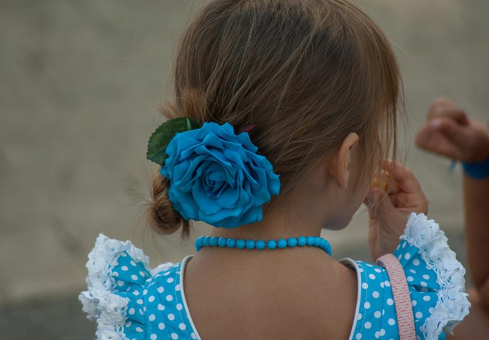 Andalusian, Child, Lace, Traditional Costume