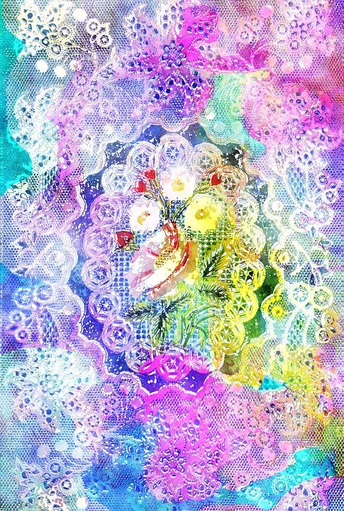 Decorative, Lace, Frame, Romantic, Flower, Floral