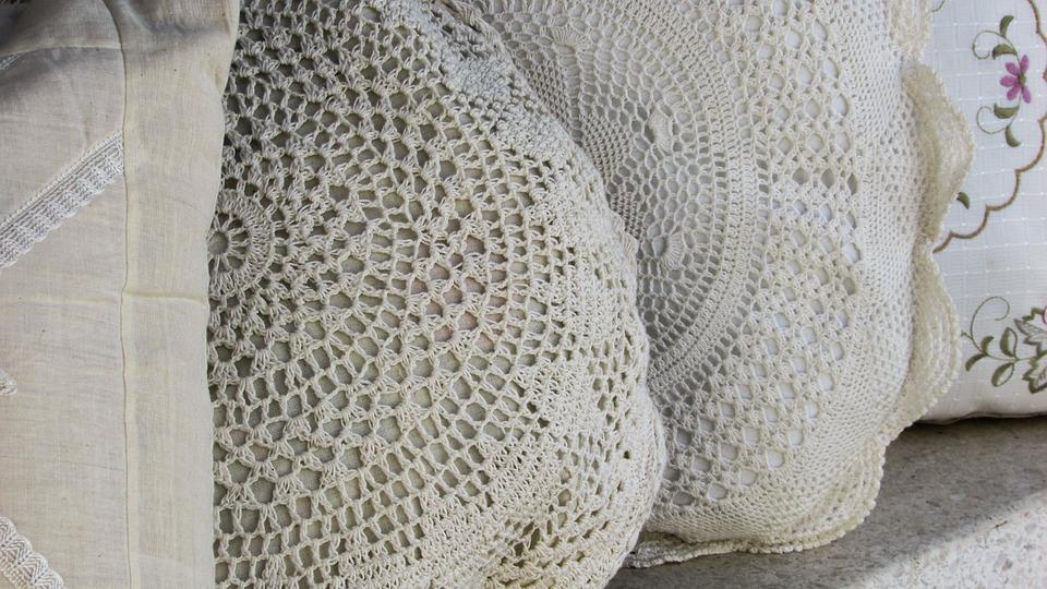 Handiwork, Embroidery, Needlework, Lace, Pillows