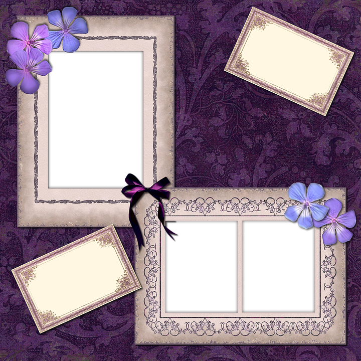 Scrapbook, Scrap, Background, Page, Craft, Frame, Lace