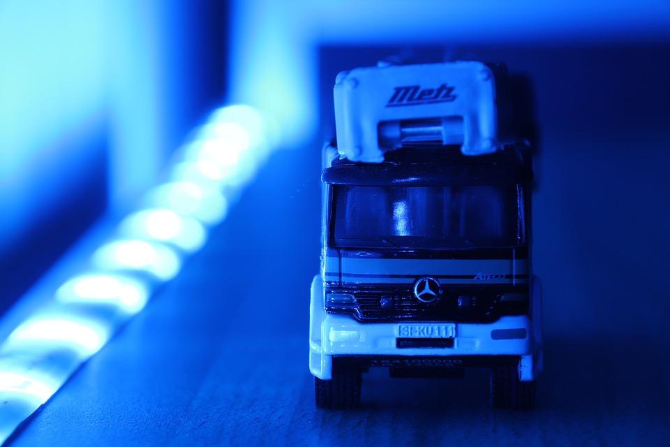 Fire, Turntable Ladder, Fire Truck, Ladder, Blue Light