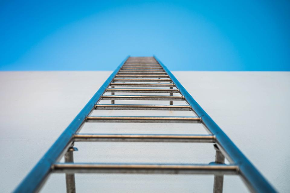 Ladder, Sky, Pig-iron, The Rooftop, External, Stainless