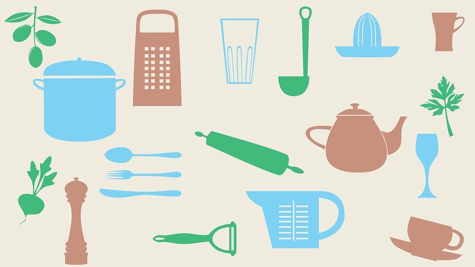 Background, Cooking, Cookware, Vegetables, Pot, Ladle