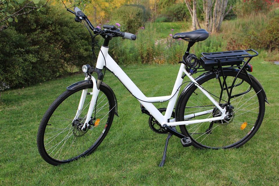 Electric, Bike, Lady