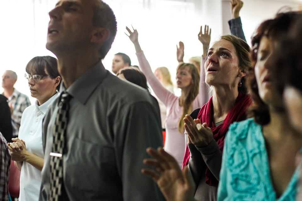 People, Lady, Woman, Man, Guy, Praying, Praise, Singing