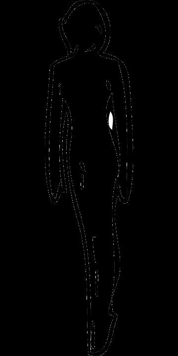 Lady, Woman, Figure, Walking, Silhouette