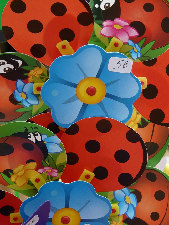 Pinwheel, Flower, Ladybug, Colorful, Wind, Windräder