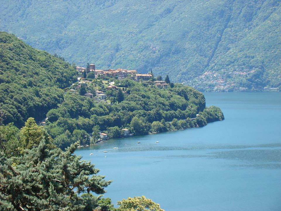 Ticino, Switzerland, Lake Lugano, Lago Di Lugano