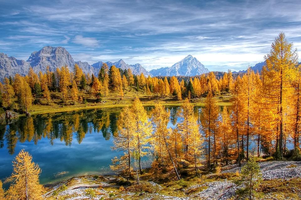 Lago Federa, Bergsee, Alpine, Mountains, Dolomites
