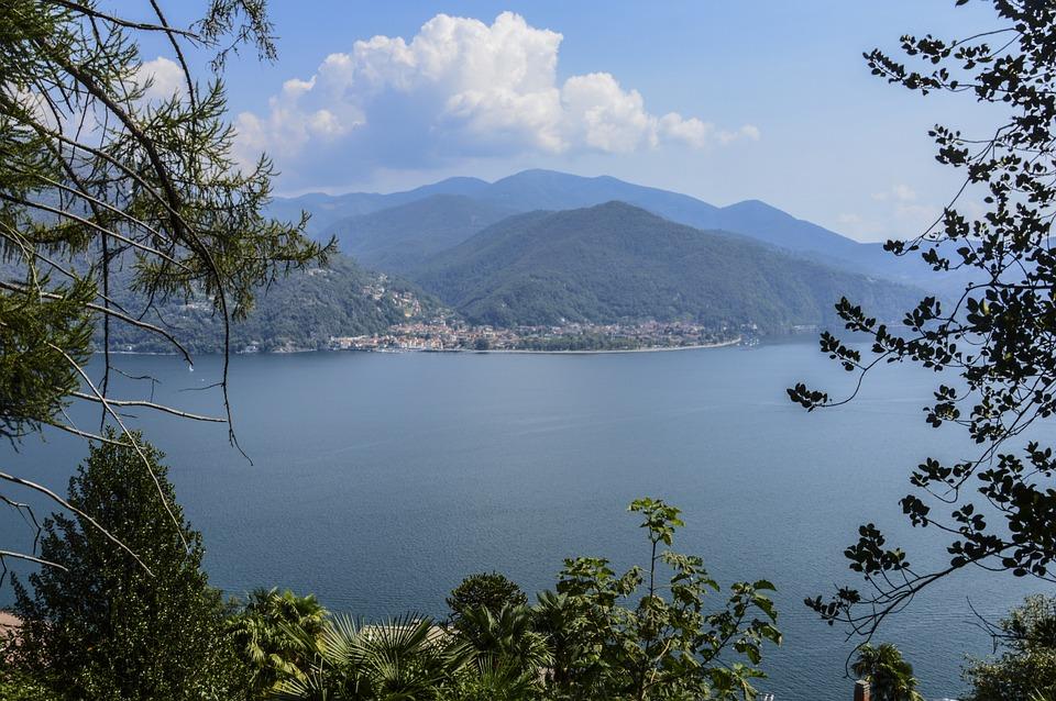 Lago Maggiore, Lago, Lake, Cloud, Landscape, Italy