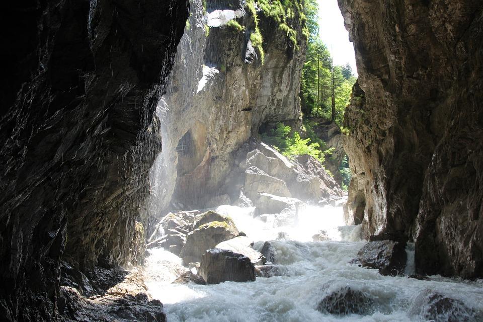 Waterfall, Water, Waterfalls, Waters, Lainbachfall