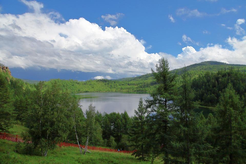 Inner Mongolia, Aershan, Camel Peak, Tianchi, Lake