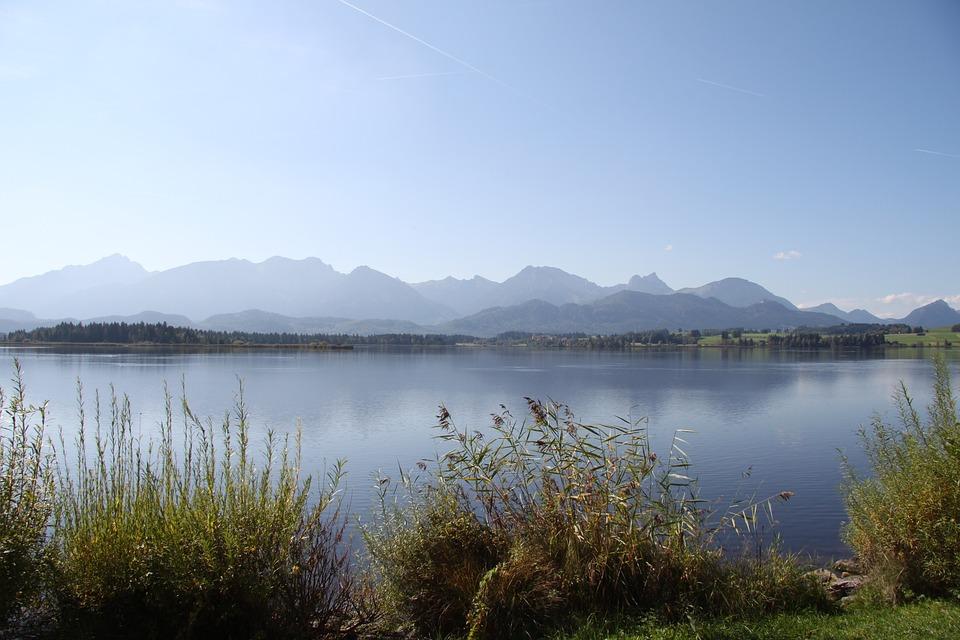 Allgäu, Bavaria, Mountains, Lake