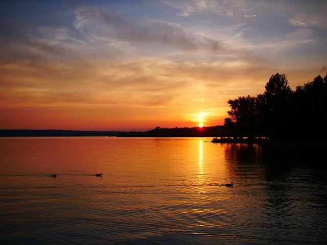 Ammersee, Munich, Lake, Sunset, Water, Sonnenuntergang