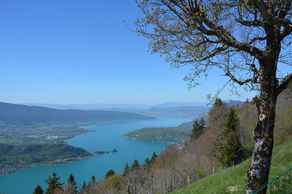 Lake Annecy, Water, Nature, Walks, France, Sky, Blue