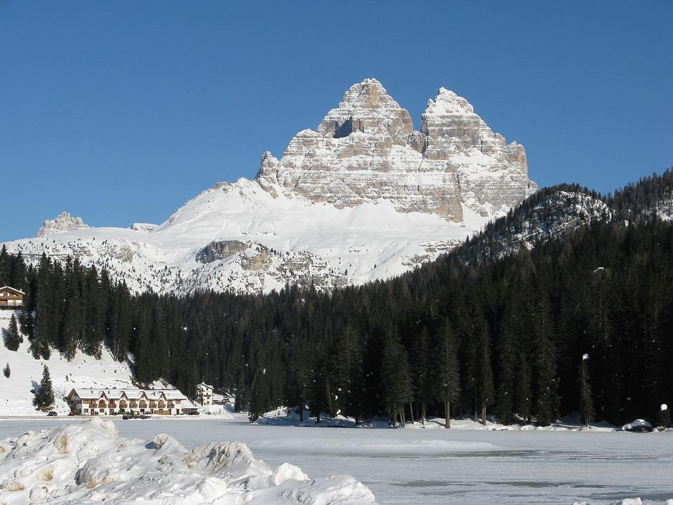 Misurina, Lake Antorno, The Three Peaks Of Lavaredo