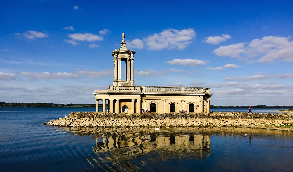 Church, Chapel, Lake, Sky, Architecture, Building