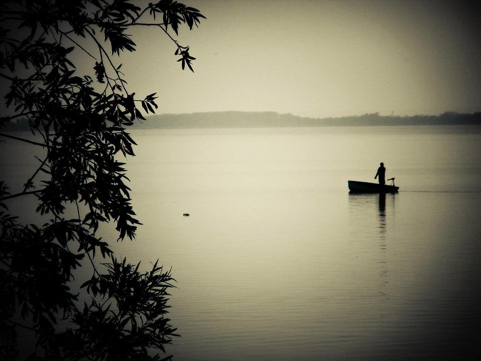 Fisher, Angler, Ship, Water, Part, River, Lake Balaton
