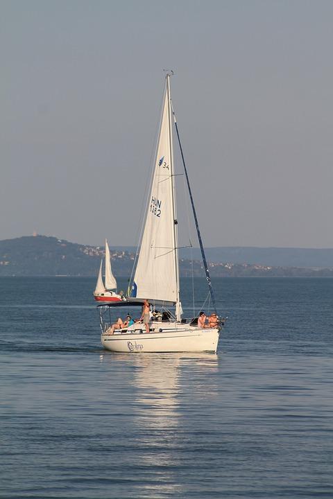 Ship, Sailing, Lake Balaton, Water