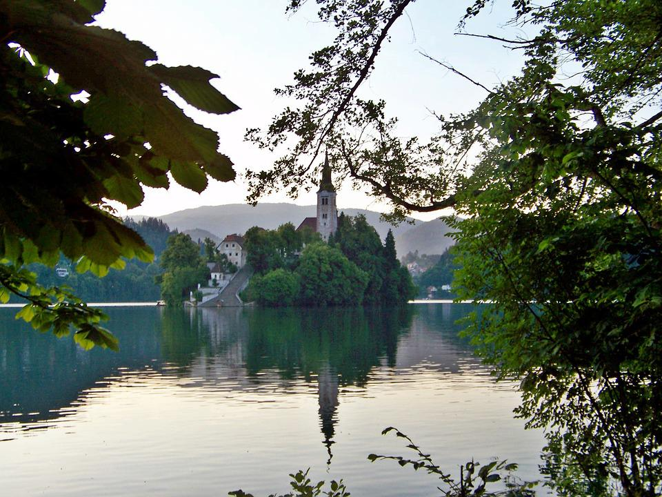 Chapel Island, Lake Bled, Perspective, Slovenia