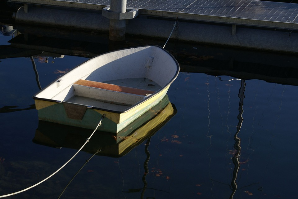 Boat, Lake, Reflection, Water, Contrast