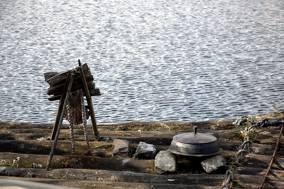 Lake, Winter, But, Classic, Once Upon A Time, Antique