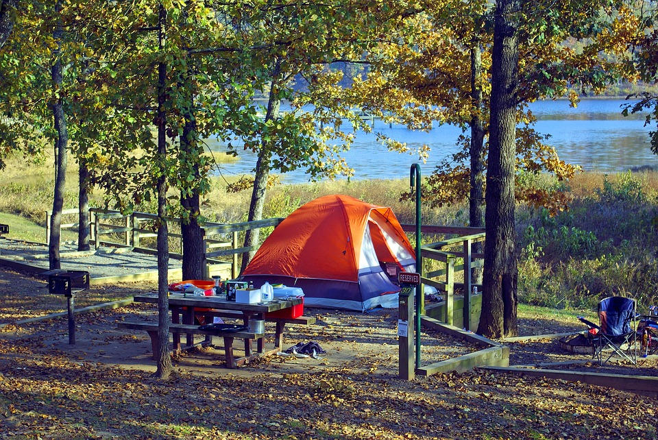 Tent At Woolly Hollow, Tent, Camping, Lake