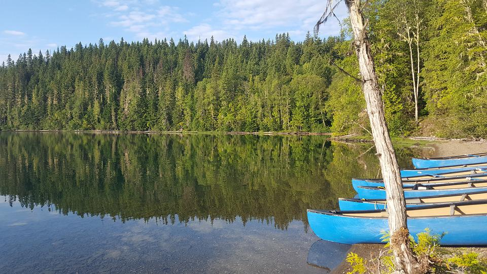 Canada, Canoe, River, Reflection, Lake, Water, Nature