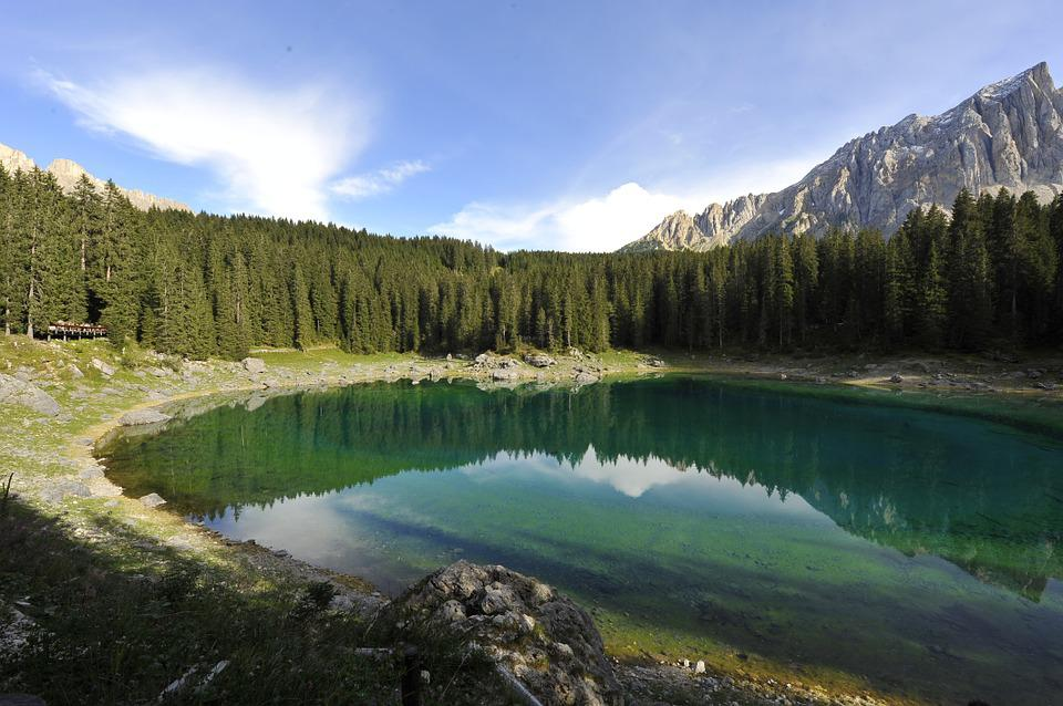 Lake Caress, Val Di Fassa, Nature, Lake, Forest