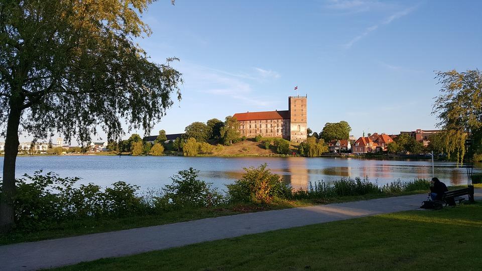 Koldinghus, Castle, Lake, Denmark
