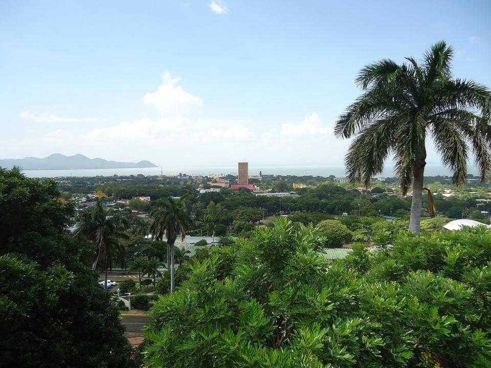 Managua, Panoramic, Lake, City, Horizon, Nicaragua