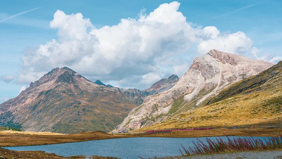 Mountains, Lake, Clouds, Alps, Alpine, Mountain Range