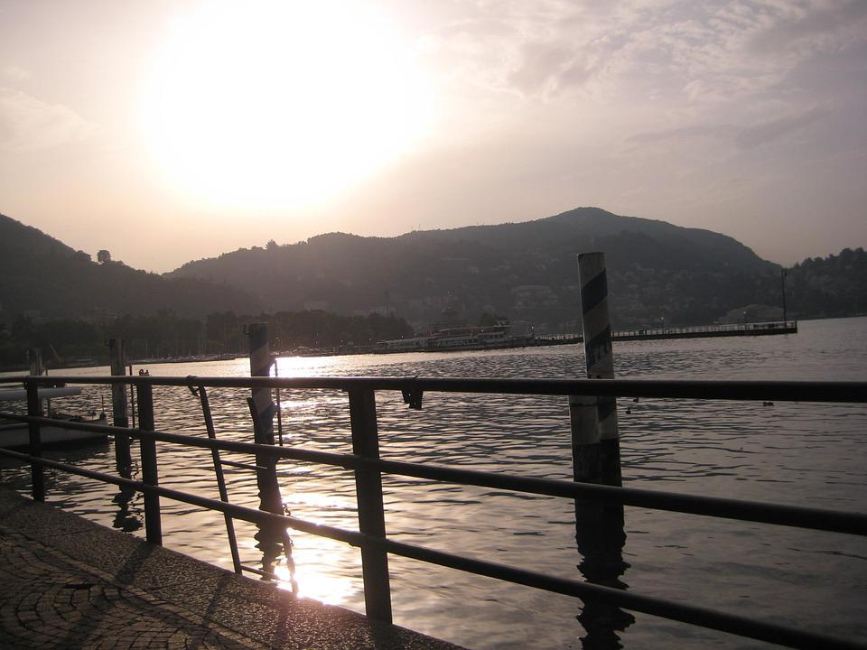 Como, Sunset, Lake Como, Lake