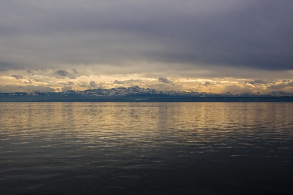 Lake Constance, Alpine, Alpine Panorama, Abendstimmung