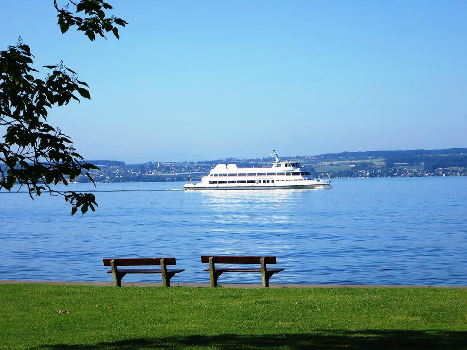 Excursion Ship, Lake Constance, Ship, Idyllic