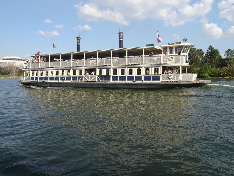 Ferryboat, Water, Lake, Disney, Water Taxi, Lagoon
