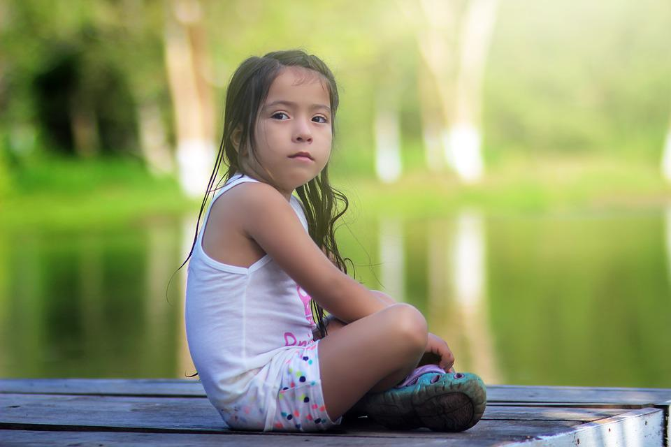 Child, Girl, Water, River, Dock, Lake, Jetty