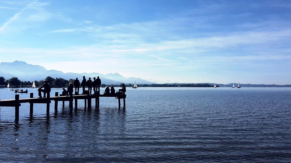 Lake, Web, Water, Jetty, Autumn, Dock, Silent, Waters