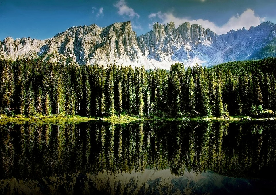Dolomites, Karersee, Bergsee, Nature, South Tyrol, Lake