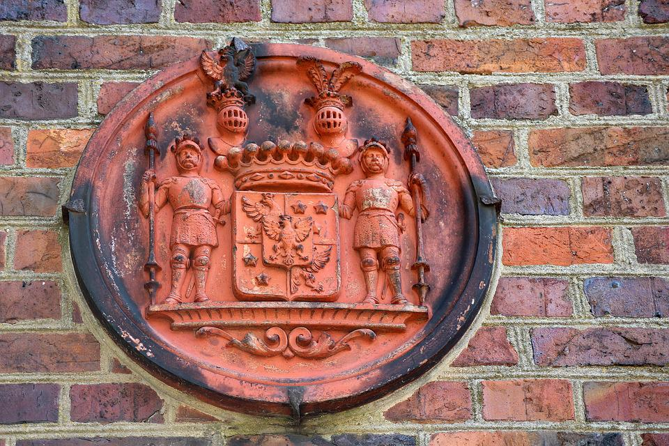 Coat Of Arms, Lake Dusia, Monument, Stone Wall, Old