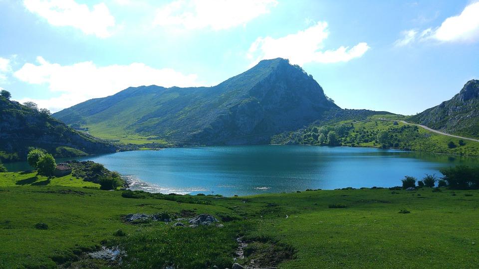 Lake, Landscape, Green, Mountain, Nature, Field