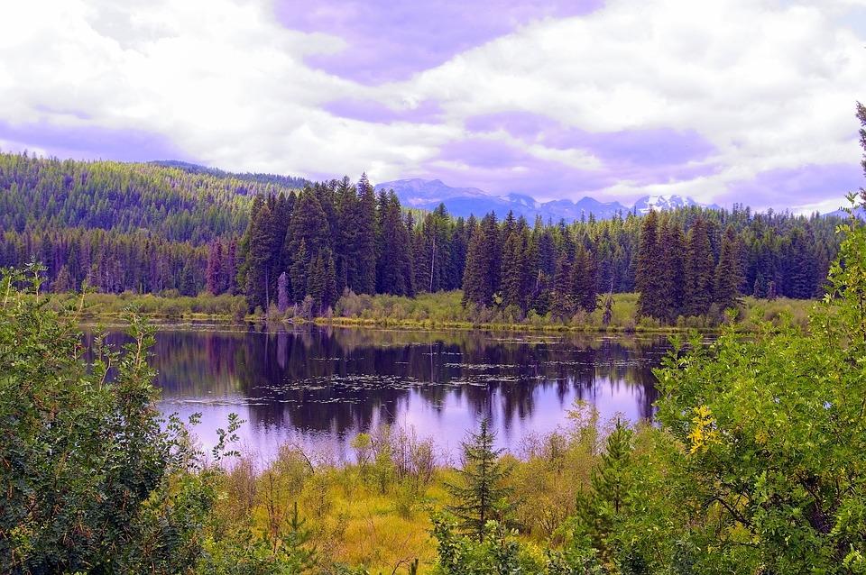 Swan Range, Montana, Mountains, Forest, Lake, Landscape