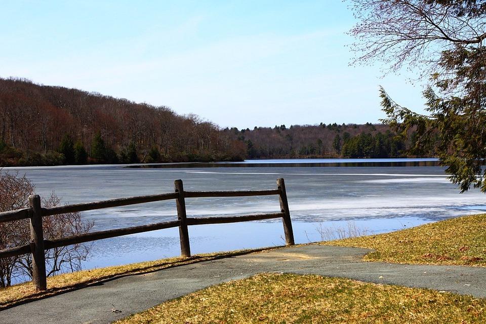 Ice, Lake, Season, Spring, Tree, Nature, Landscape