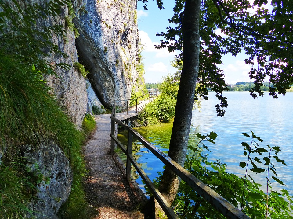 Lake Weissensee, Lake, Waters, Uferweg, Allgäu