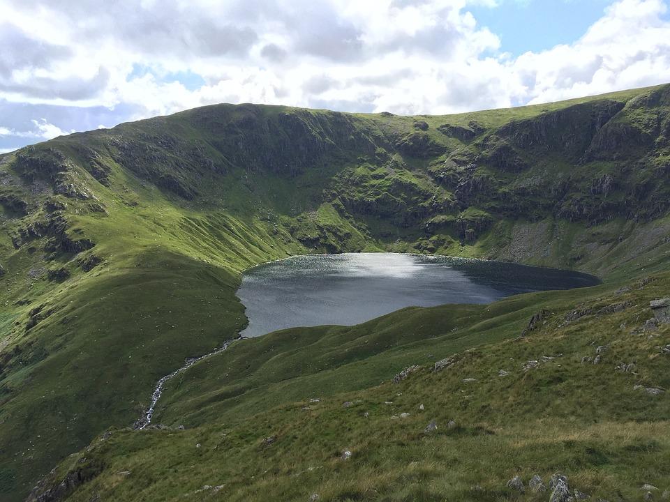 Lake, Vista, Mountain, England, Uk, Landscape