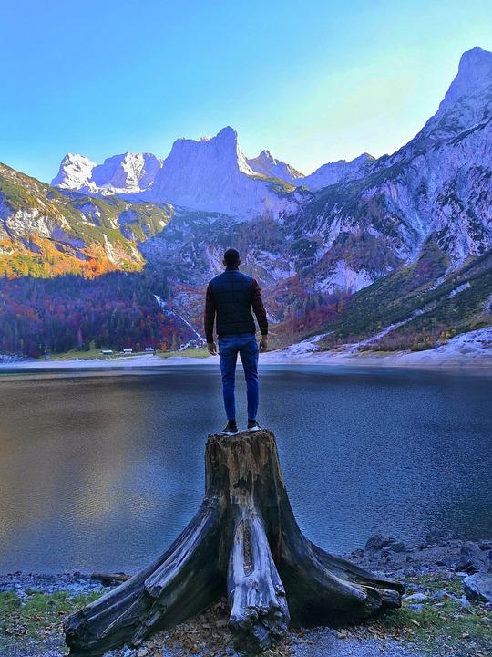 Mountains, Austria, Dachstein, Landscape, Lake, Nature