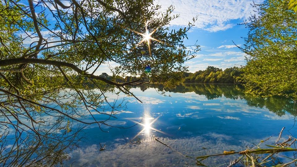 Sonnenstern, Lake, Mirroring, Water, Landscape, Nature