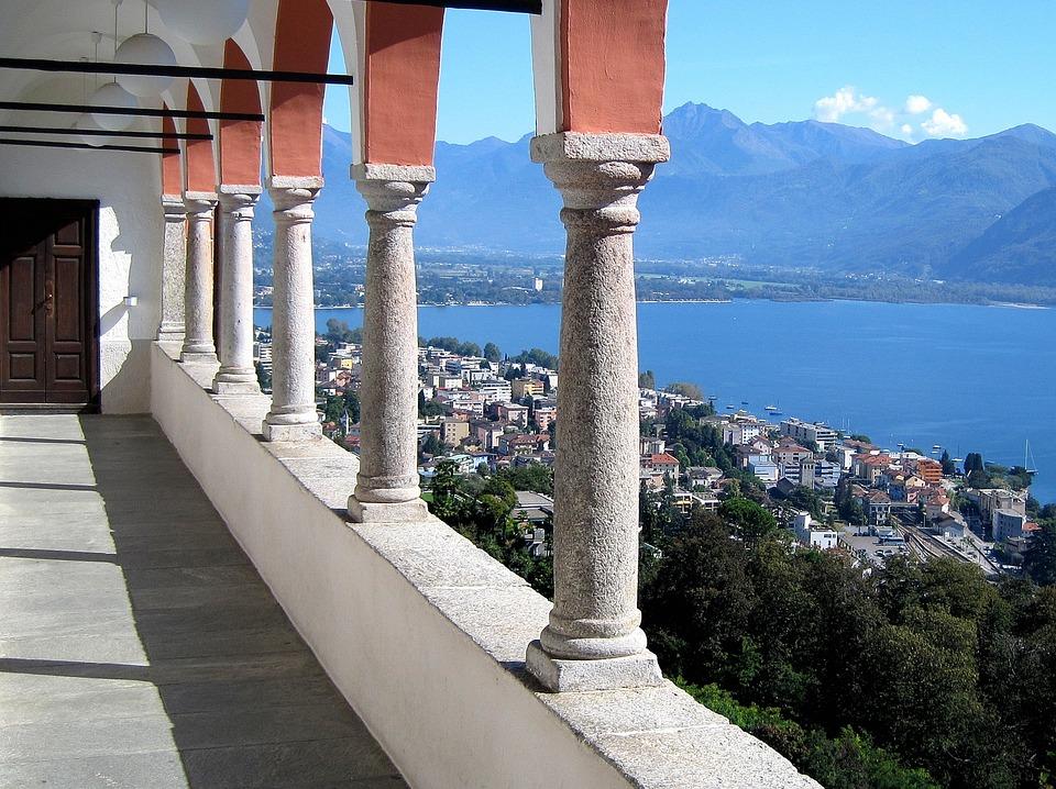 Columnar, Lake, Landscape, Ticino, Locarno, Switzerland