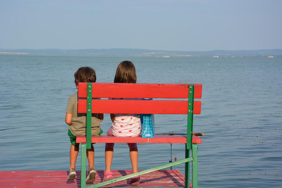 Children, Lake, Web, Romance, Leisure, Bank, Holiday