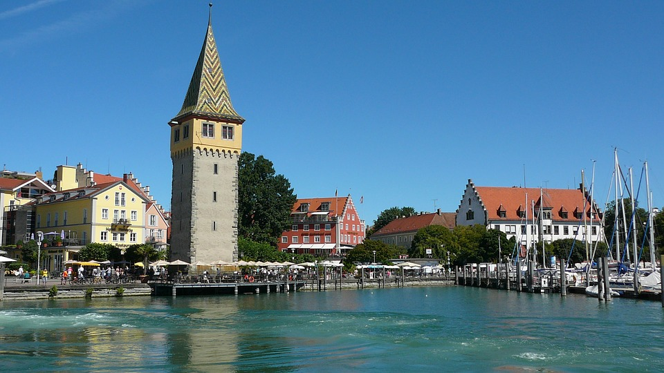 Lake, Sky, Boats, Bodensee, Lindau